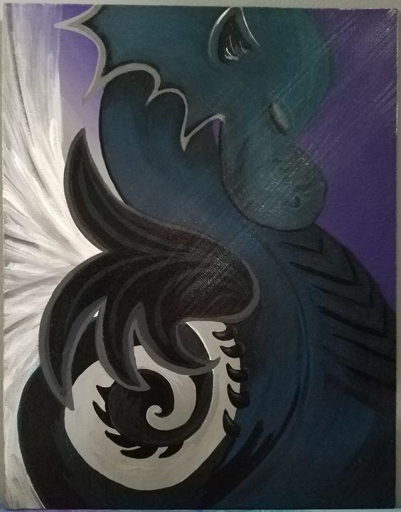 Mist the Sea Dragon - Free Spirit Art by B