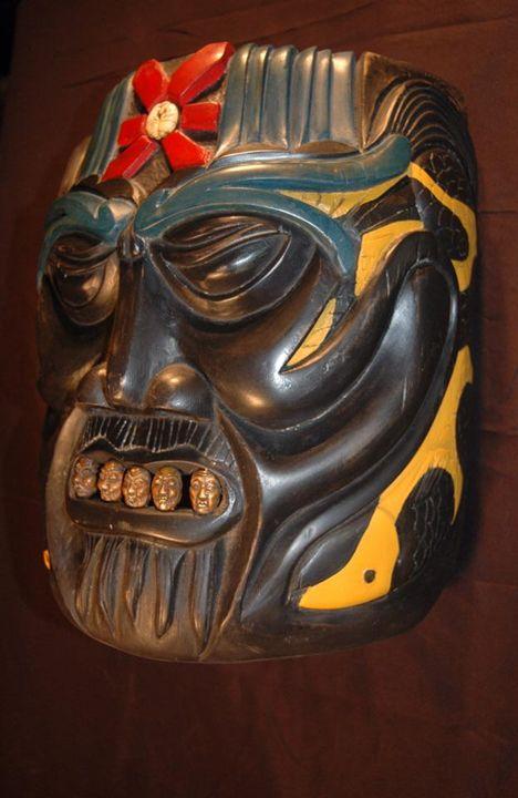 Japanese Coy Mask - Lohrenz wood masks