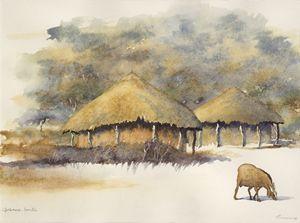 At the lands (kwa masimo). Botswana
