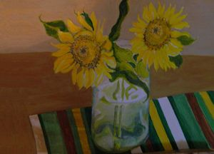 Sun Flowers in a Jar