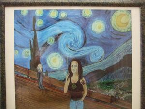 Mona Lisa on a Starry Night Print - Maverick Designs