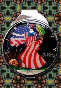 Hand Painted Walking Liberty Money C
