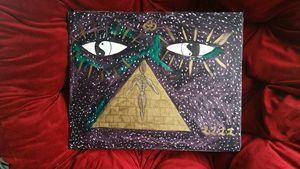 spiritual awakening acrylic painting