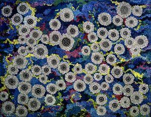 BLACK OPAL DREAMING - Sally Harrison's Dot Paintings