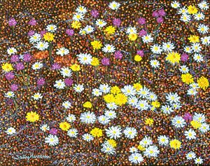 JOHN BULL'S RAPE OF MOTHER EARTH - Sally Harrison's Dot Paintings