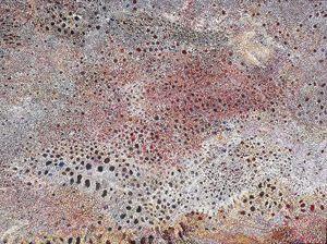 """MUSHROOM ROCK, PRIESTS & """"RED CAPS"""" - Sally Harrison's Dot Paintings"""