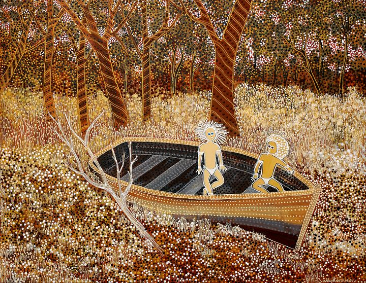 "ME & MY ""SHADOW SELF"" - Sally Harrison's Dot Paintings"