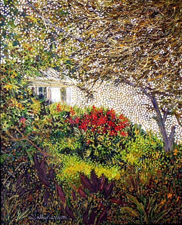 SUMERIAN KI-A-MA - THE 13TH WARRIOR - Sally Harrison's Dot Paintings