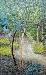THE SECRET PATHWAY (DENMARK HILL) - Sally Harrison's Dot Paintings