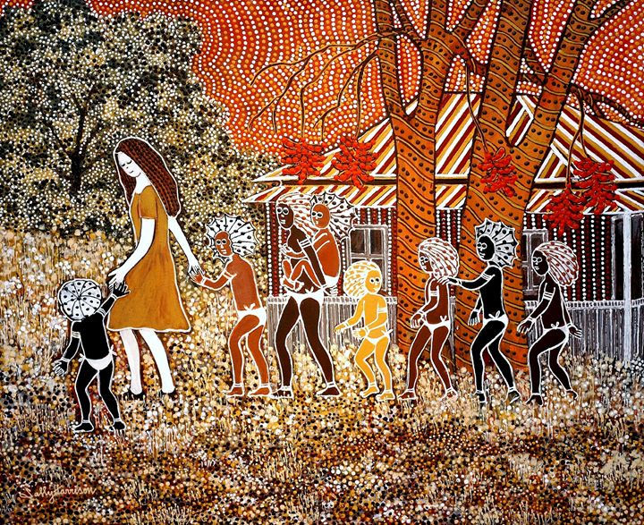 THE PIED PIPER - Sally Harrison's Dot Paintings