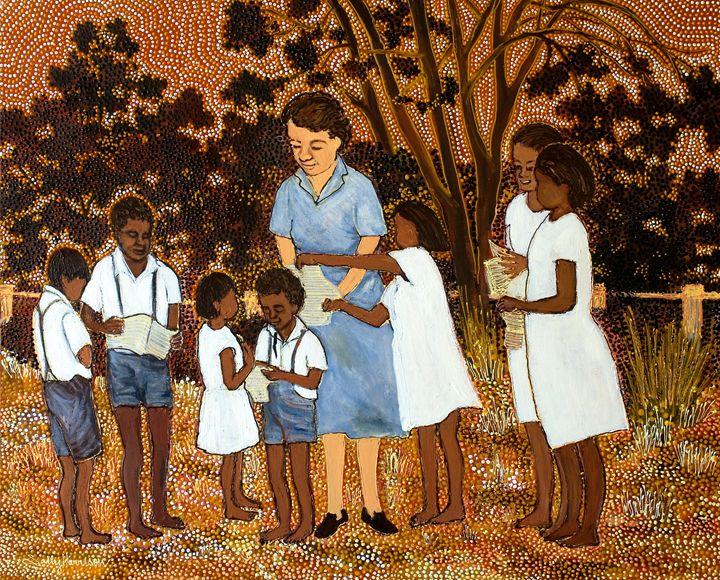 THE POWER OF HONESTY (LIGHT OF GOD) - Sally Harrison's Dot Paintings