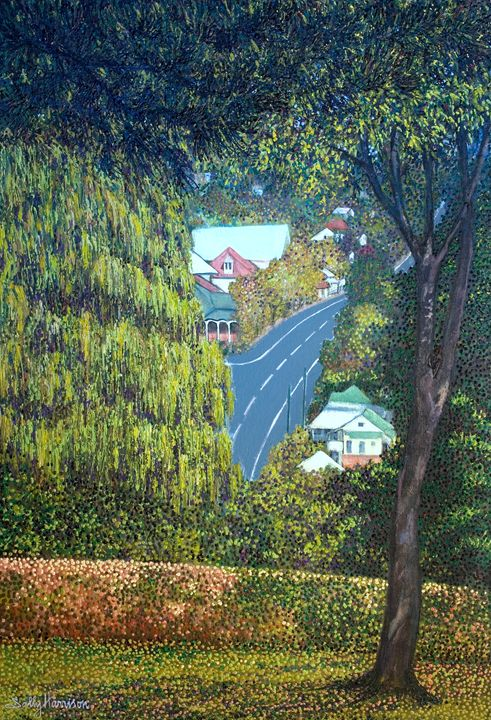 A GLIMPSE FROM AFAR - Sally Harrison's Dot Paintings