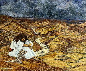 SATAN & THE DEVIL IN ARABANA COUNTRY - Sally Harrison's Dot Paintings
