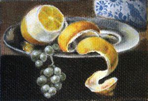 Lemon and Grapes