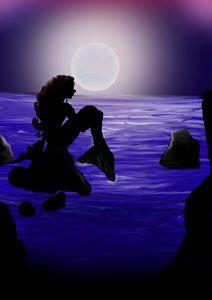 Moon Blue Mermaid