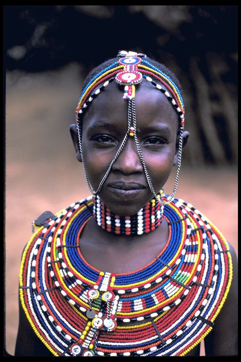 Samburu Maiden with Beads - Carl Purcell - Global Photography