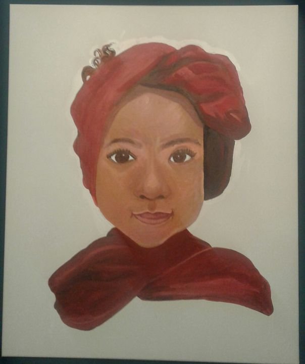 Little girl in red scarf - Halimah O
