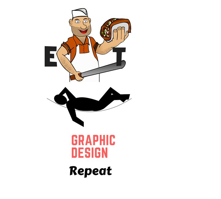 Eat, Sleep, Graphic Design, Repeat - Peter Squire