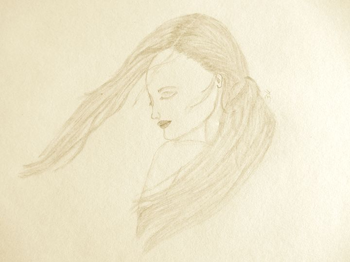 Girl in the wind - Holly's Gallery of Art