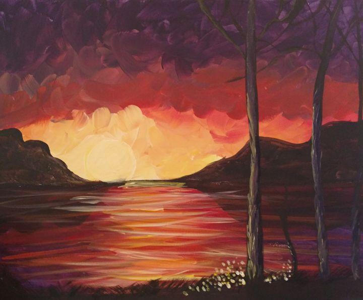 Sunset river - Leah