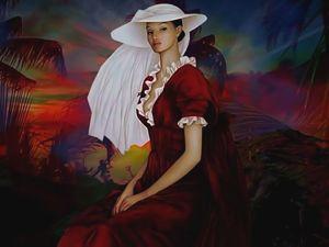 La Dama De Rojo