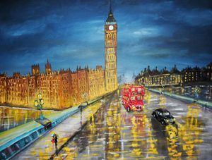 A Rainly evening London Westminster