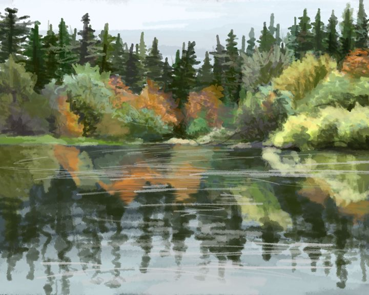 """Lake"" - Art by Calli"