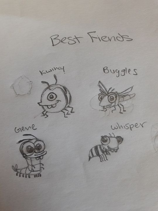 Best Fiends characters - Olivia's Cartoon drawings and greeting cards