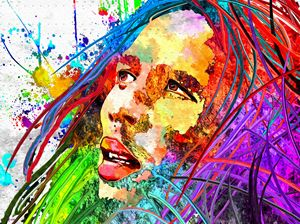 Bob Marley Colored Grunge