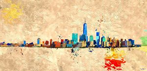 NYC Grunge Skyline