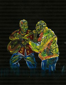 Two Classical Guitar Players Duet
