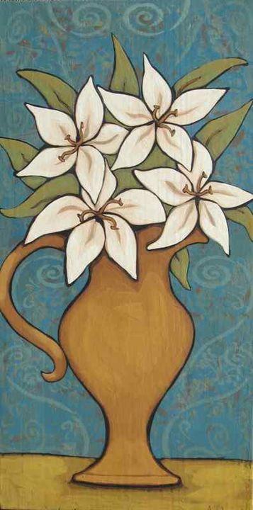 My Lily Whites - Annie Lane Folk Art