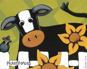 Picket Fences - Annie Lane Folk Art