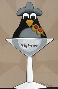 Dirty Martini - Annie Lane Folk Art