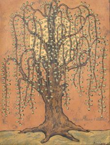The Sun and The Willow - Annie Lane Folk Art