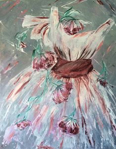 Rose ballet dress