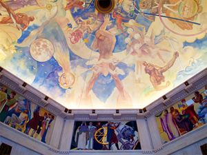Griffith Observatory Ceiling Art