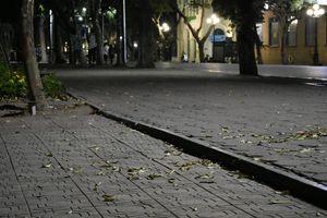 Street at the midnight