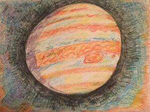 Jupiter fine art print - Bob Ross styled paintings