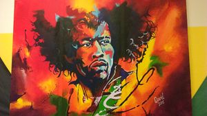 Jimmi Hendrix on fire