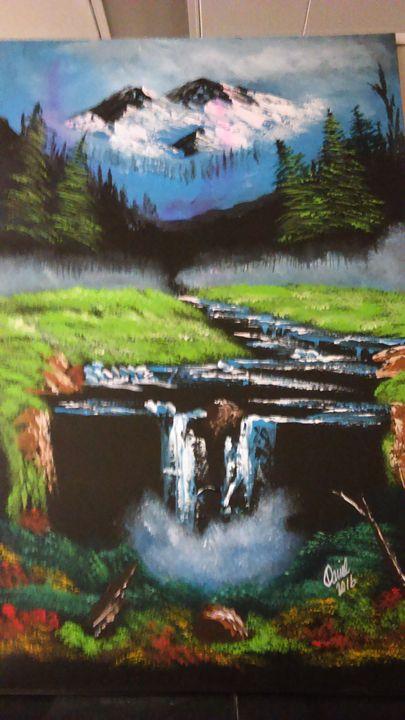 Autum's waterfall - brushstroke777