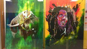 elephant and Bob Marley