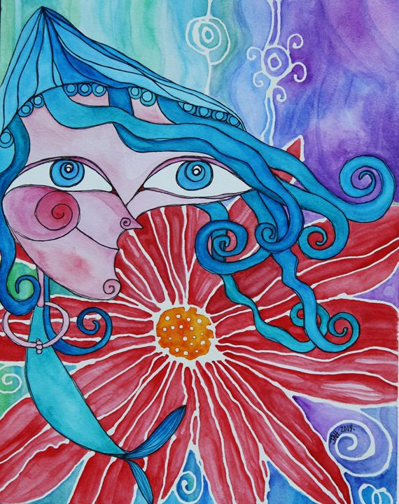 Mermaid girl - jessicaanneli