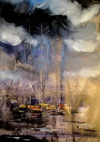 River with boat - guffar babu gallery