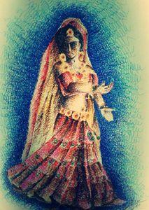 dancing woman ' Garba'