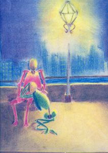 deprived humans below lamp post