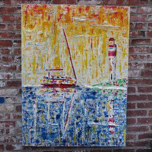 Sailboat at the anchor
