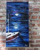 Original palette knife seascape
