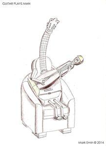 Guitar Plays Man