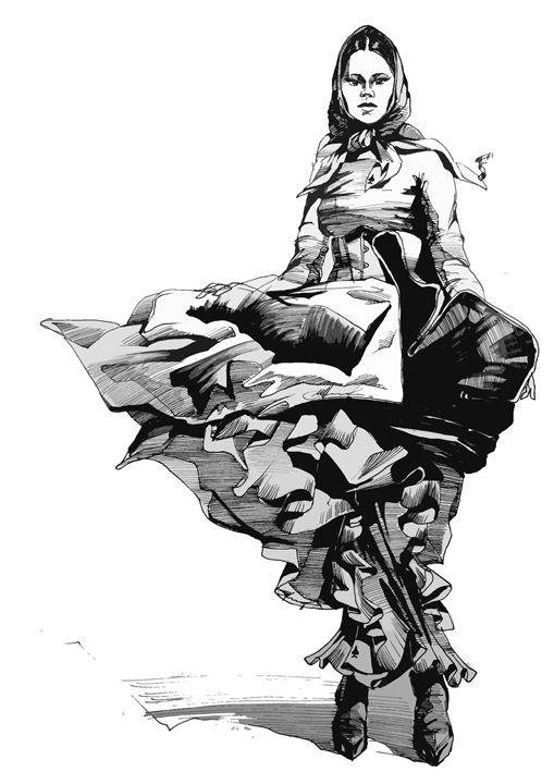 Fashion Sketch - Yury Fadeev